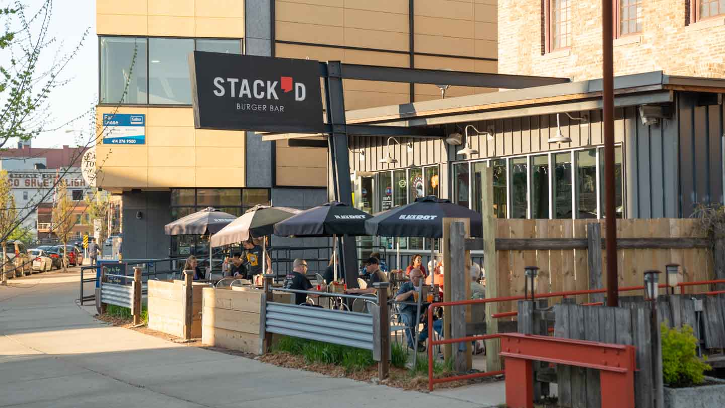 Front of Stack'd Burger Bar - Best burgers in Milwaukee