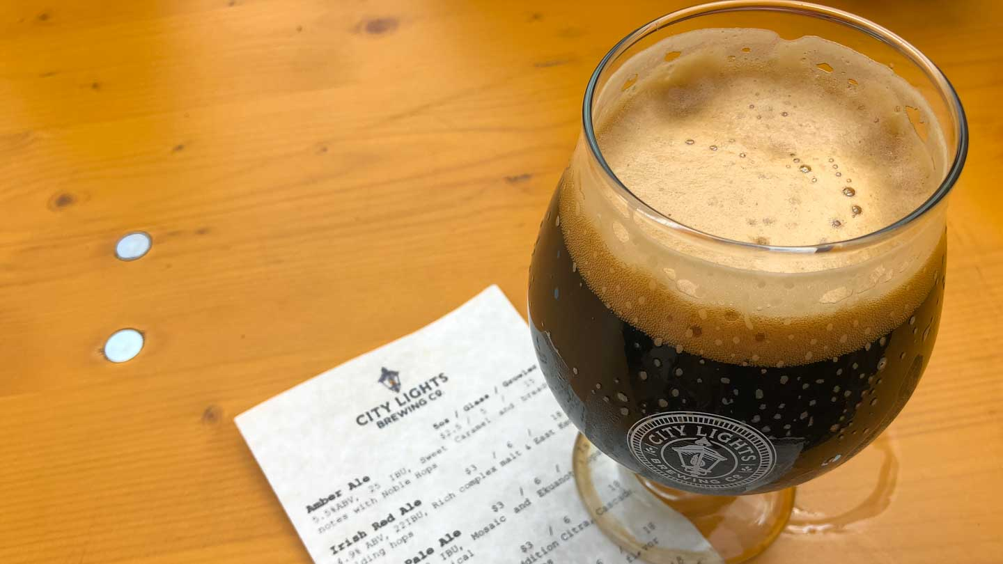 City Lights Brewing Company Beer Menu & Stout