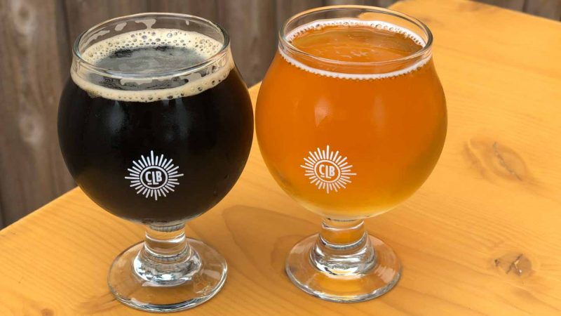 two beers at City Lights Brewing Company Milwaukee