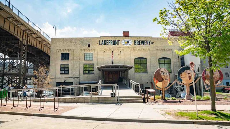 Front of the Lakefront Brewery - Best Brewery Tours and Friday Fish fry