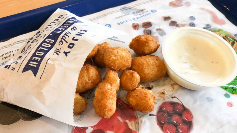 Order of Cheese curds at Culver's Butter Burgers and Frozen Custard Restaurant