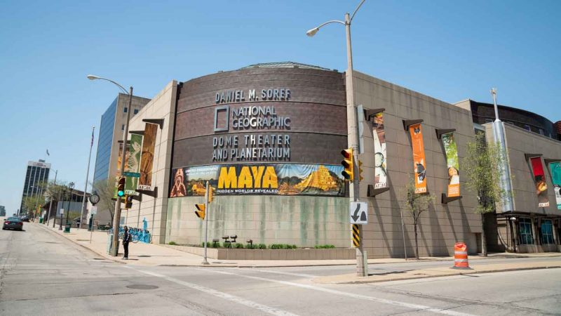 Exterior of the Milwaukee Public Museum with Free Days every month