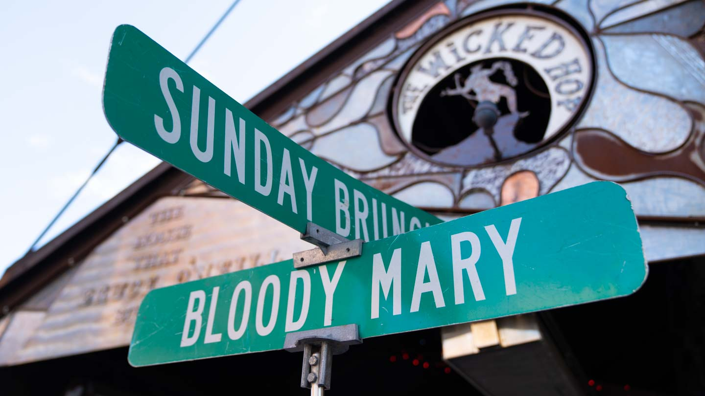 """Bloody Mary"" street sign style sign - Featured image for best Bloody Mary's in Milwaukee"