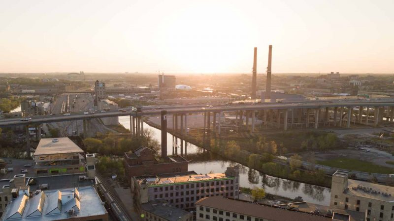 view of the menomonee valley - best brewers shuttle